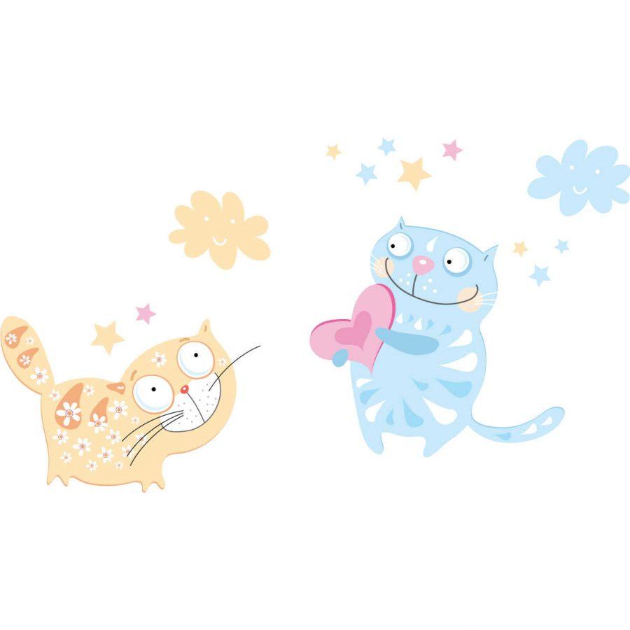 Sticker decorativ Pisicute haioase