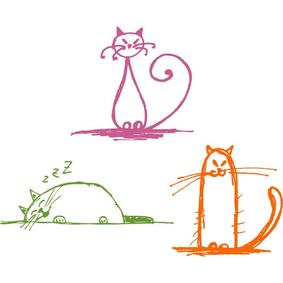 Sticker decorativ Pisicute vesele