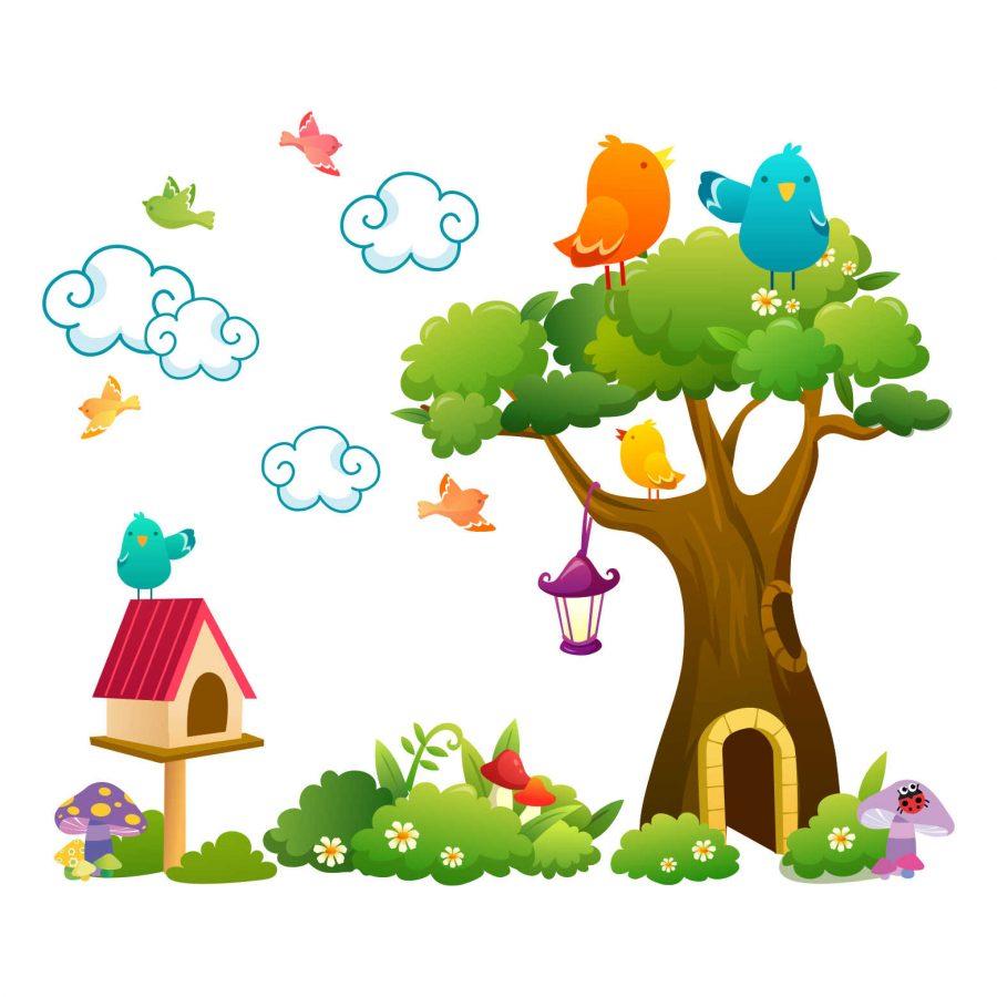 Sticker decorativ Povestea pasarelelor