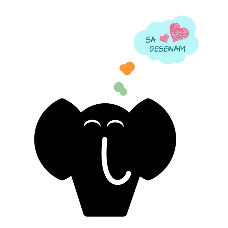 Sticker decorativ metru Elefant