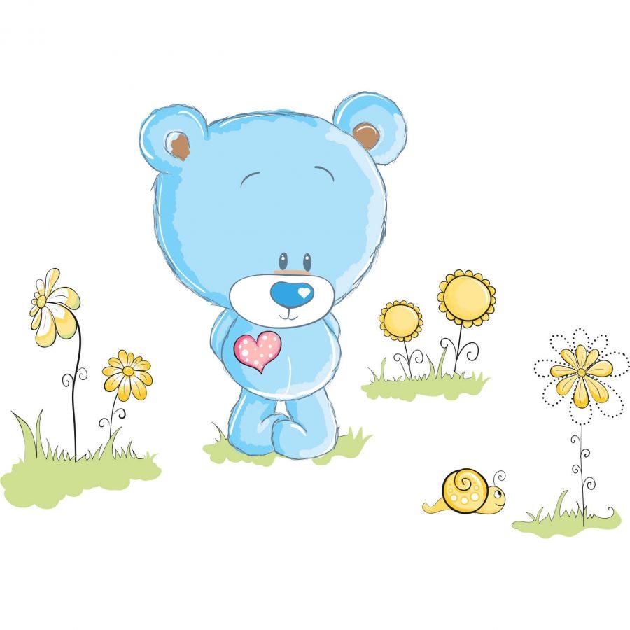 Sticker decorativ Ursuletul fericit