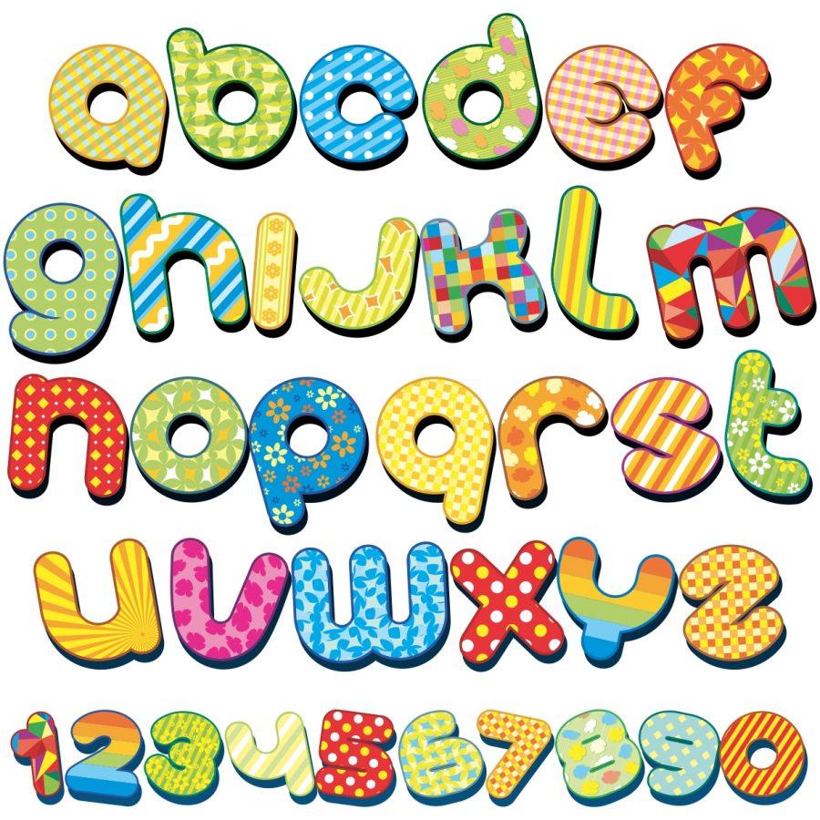 Sticker perete copii alfabet si cifre 150 x 136 cm imagine