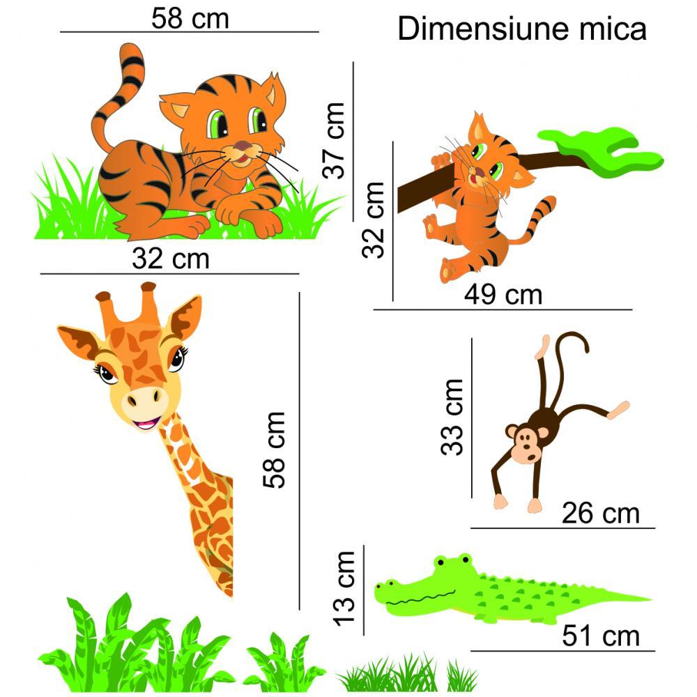 Sticker perete copii Animalute 135 x 140 cm