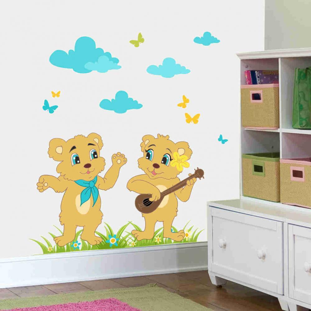 Sticker perete copii Cantaretii 147 x 110 cm din categoria Camera copilului de la Tiparo