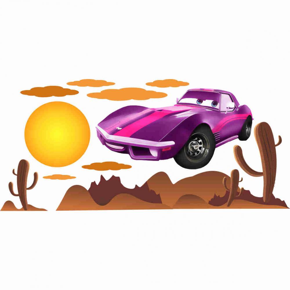 Stickere perete copii Cars violet - 170 X 70 cm imagine