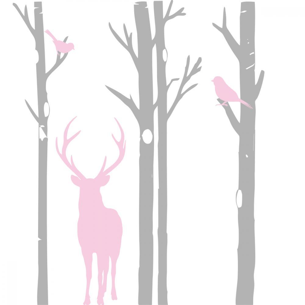 Sticker perete copii Forest Trees 130x160 cm