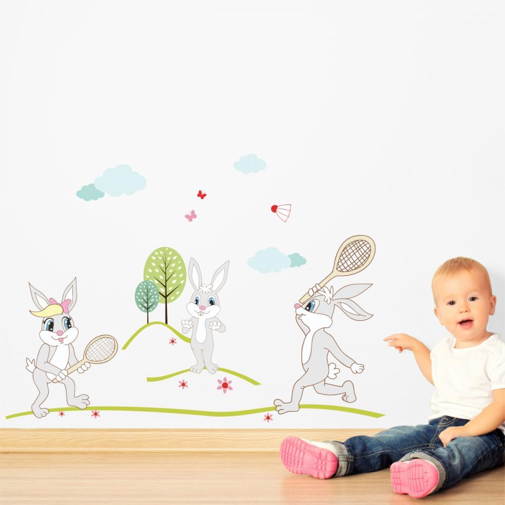 Sticker perete copii Iepurila 188 x 110 cm din categoria Camera copilului de la Tiparo