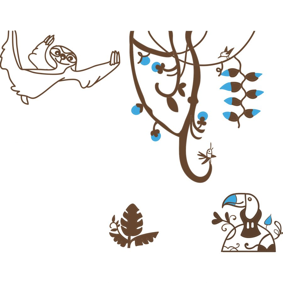 Sticker decorativ Jungla vesela