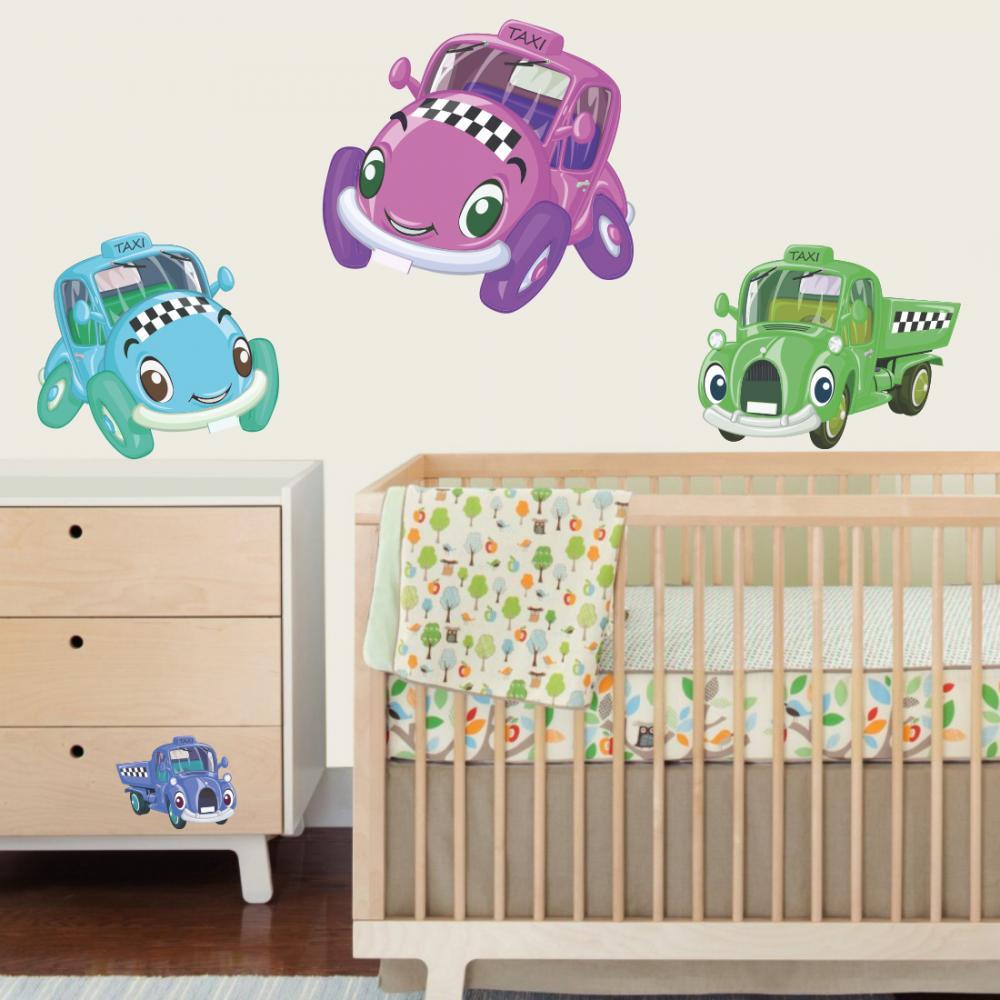 Sticker perete copii Masinute 120 x 100 cm din categoria Camera copilului de la Tiparo