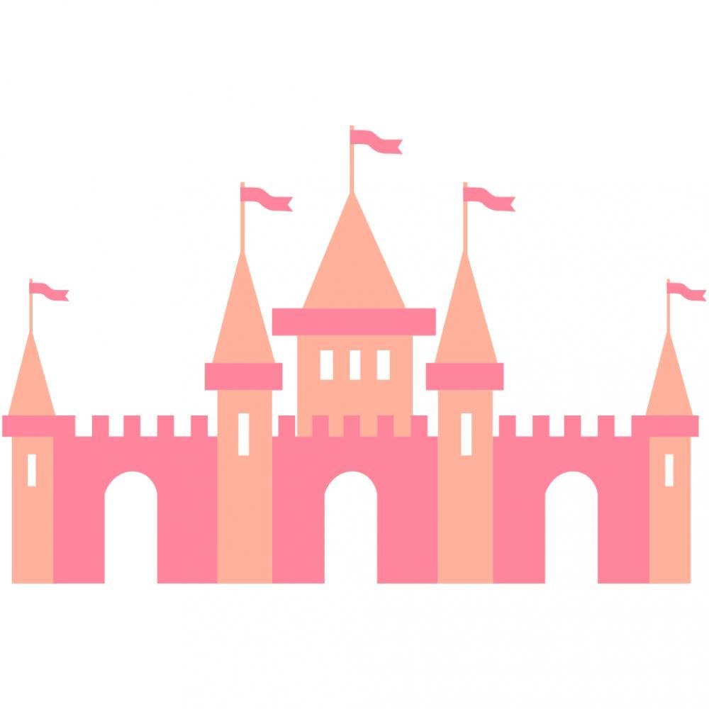 Sticker perete copii Princess Castle 184 x 96 cm