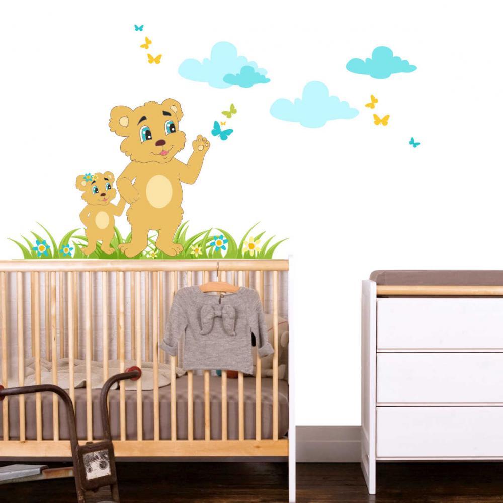 Sticker perete copii Ursi 108 x 80 cm din categoria Camera copilului de la Tiparo