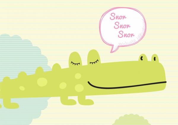 Tablou canvas Crocodilul fericit 50 x 70 cm
