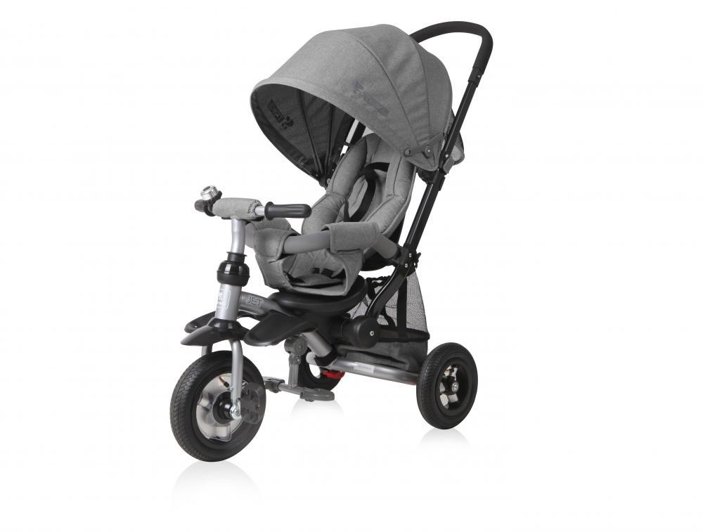 Tricicleta Pentru Copii Jet Air Roti Mari Cu Camera Grey