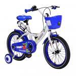 Bicicleta pentru fetite cu roti ajutatoare si cosulet 16 inch Little Monster Blue