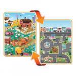 Covoras de Joaca cu Doua Fete pentru Copii Prince Lionheart City / Farm