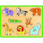 Puzzle din lemn Animale salbatice