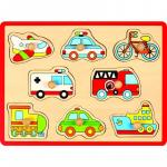 Puzzle din lemn Mijloace de transport