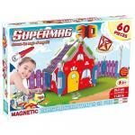 Jucarie cu magnet casuta 60 piese Supermag 3D