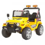 Masinuta electrica cu roti din cauciuc Drifter Jeep 4x4 Galben