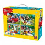 Puzzle 4 in 1 Mickey Mouse