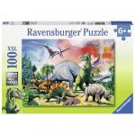 Puzzle Printre dinozauri 100 piese