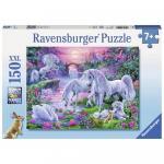 Puzzle Unicorni la apus 150 piese