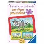 Puzzle animale 3x6 piese