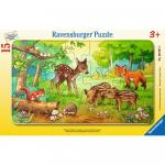 Puzzle animale in padure 15 piese
