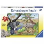 Puzzle animale safari 60 piese