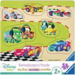 Puzzle din lemn Cars 7 piese