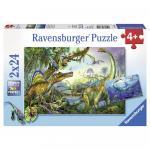 Puzzle dinozauri 2x24 piese