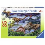 Puzzle dinozauri 35 piese