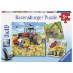 Puzzle masinarii 3x49 piese