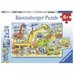 Puzzle muncind din greu 2x24 piese