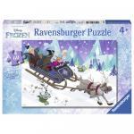 Puzzle Frozen prieteni pentru totdeauna 60 piese