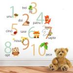 Sticker decorativ Padurea cu Numere 116 x 33 cm