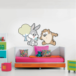 Sticker perete copii Bugs and Taz 60 x 35 cm