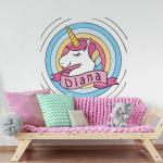 Sticker perete copii Unicorn 98 x 96 cm