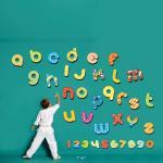 Sticker perete copii alfabet si cifre 100 x 91cm