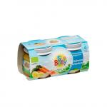 Piure Bio cu somon si legume 2x 80 gr SunBaby