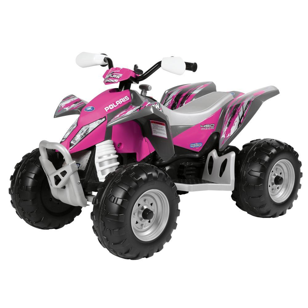 ATV Polaris Outlaw Pink Power Peg Perego