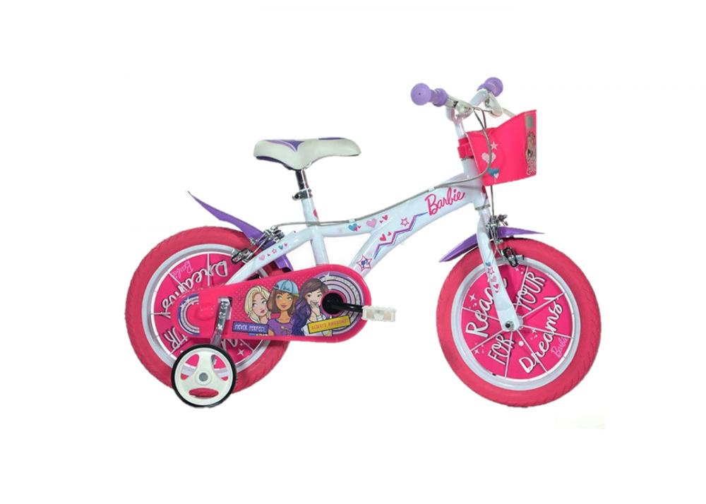 Bicicleta copii 14 Barbie Dino Bikes imagine