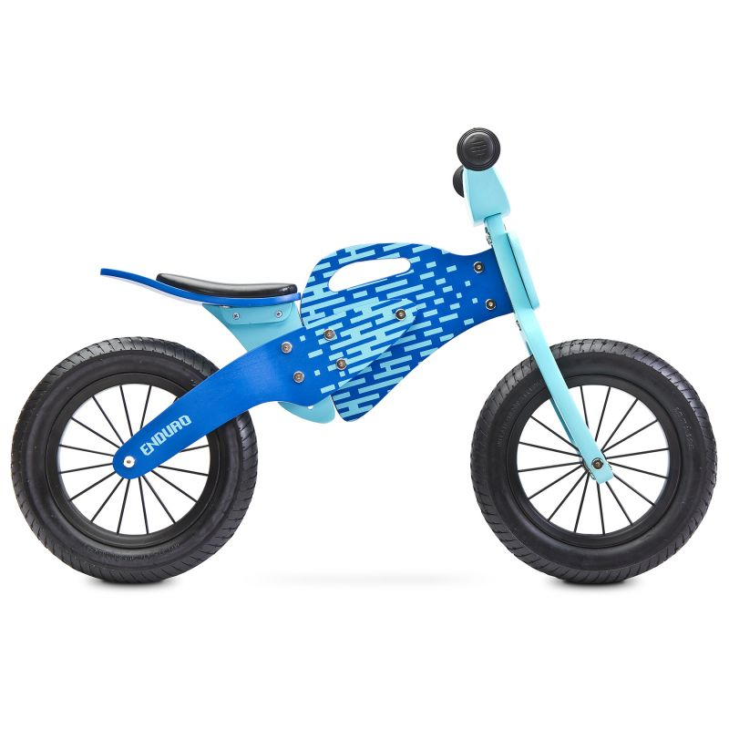 Bicicleta de lemn fara pedale Enduro Blue