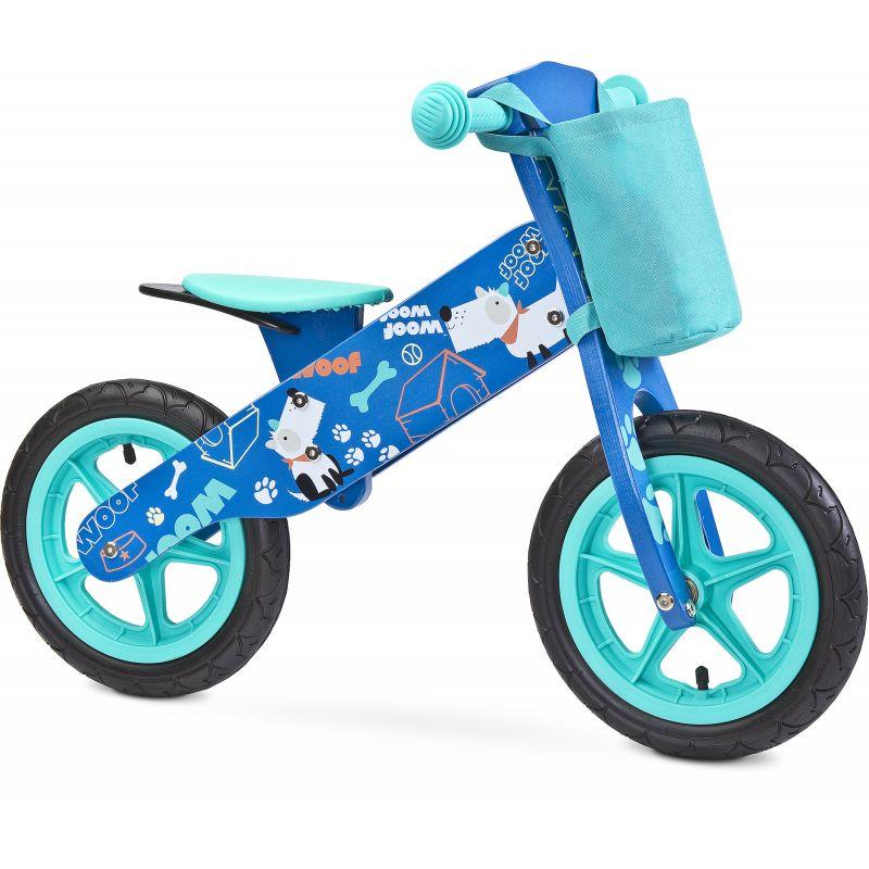 Bicicleta din lemn Toyz by Caretero Zap Blue