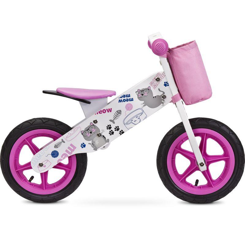 Bicicleta din lemn Toyz by Caretero Zap Pink