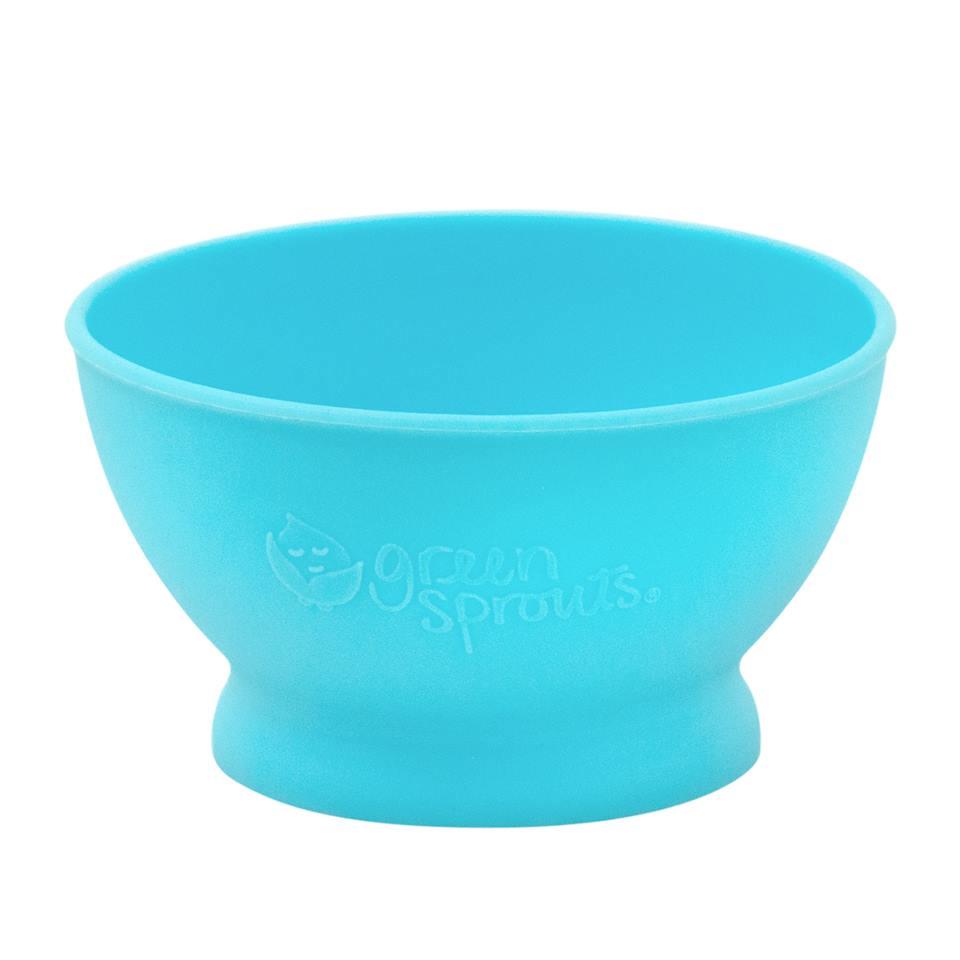 Bol de invatare Learning Bowl Green Sprouts Aqua