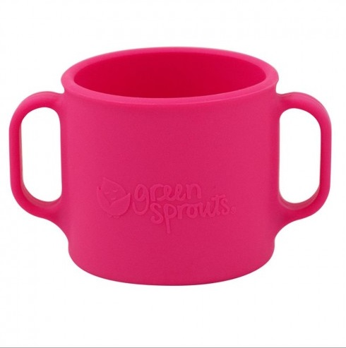 Cana de invatare Learning Cup Green Sprouts Pink