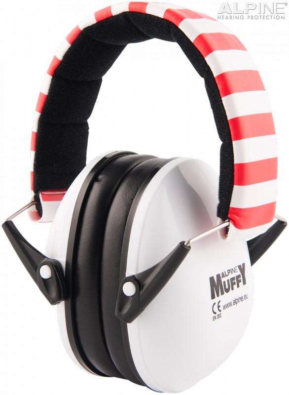 Casca impotriva zgomotului antifon Alpine Muffy alb