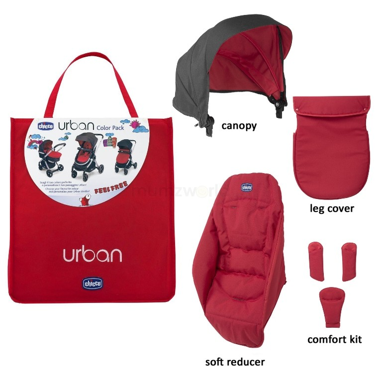 Color Pack Carucior Chicco Urban Special Edition Red