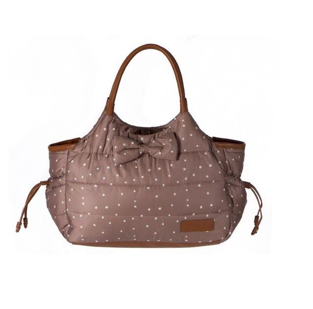 Geanta Pentru Mamici Mama Bag Dotty Brown